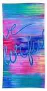 Live Colorfully Beach Towel
