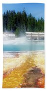 Live Dream Own Yellowstone Park Black Pool Text Beach Towel