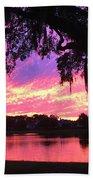 Live Oak Sunset Beach Towel