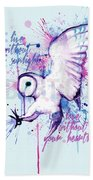 Live Without The Sunlight Owl Beach Towel