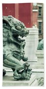 Liverpool Chinatown - Chinese Lion D Beach Towel