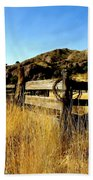 Livery Fence At Dripping Springs Beach Towel