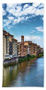 Living Next To The Arno River Beach Towel