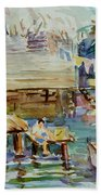 Living On The Water Beach Towel