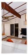 Living Room With Sloping Ceiling Beach Towel