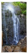 Living Waters - Wailua Falls Maui Beach Towel