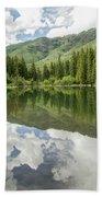 Lizard Lake Reflections Beach Towel