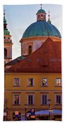 Ljubljana Church And Square Sunset View Beach Towel