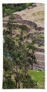 llactapata Site and Urubamba River Beach Towel