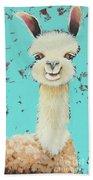Llama Sue Beach Towel