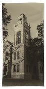 Llano County Courthouse - Vintage Beach Towel