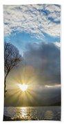 Llyn Padarn Sunburst Beach Towel