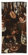 Loarte, Alejandro De Madrid , 1590 - Toledo, 1626 The Poultry Vendor 1626. Beach Towel