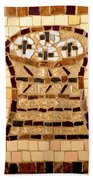 Loaves And Fishes Mosaic Beach Towel