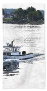 Lobster Boat Lbwc Beach Towel