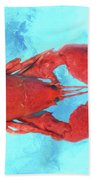 Lobster On Turquoise Beach Towel
