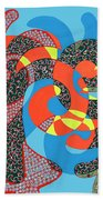Lobster Party Beach Towel