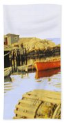 Lobster Pots Beach Towel