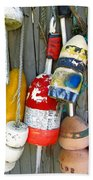 Lobster Trap Buoys 1 Beach Towel