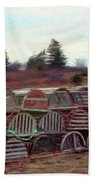 Lobster Traps Beach Towel by Jeff Kolker