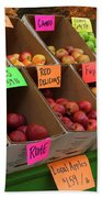 Local Apples For Sale Beach Towel