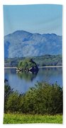 Loch Leanne Painting Killarney Ireland Beach Towel