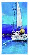 Loch Lomond Sail Beach Towel