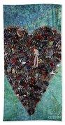 Locket Heart-3 Beach Towel