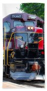 Locomotive In Color Beach Towel
