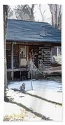 Log Cabin 2 Beach Towel