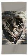 Log Cabin Love Beach Sheet