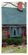 Log Cabin Beach Towel