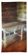 Log Cabin Table Beach Towel