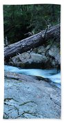 Log Over Deep Creek Beach Towel