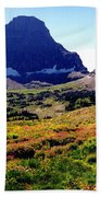 Logans Pass In Glacier National Park Beach Towel