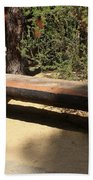 Logger Bench In Oregon Beach Towel