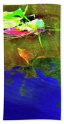 Loggerhead Sea Turtle In The Florida Everglades Beach Towel