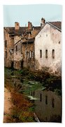 Loire Valley Village Scene Beach Towel