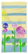 Lollipop Flower Bed Beach Towel