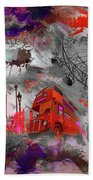 London Art 56 Beach Towel