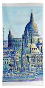 London City St Paul's Cathedral Beach Towel