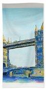 London City Tower Bridge Beach Towel