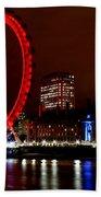 London Eye Beach Towel by Heather Applegate