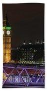 London Lights Beach Towel