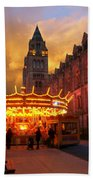 London Museum At Night Beach Towel