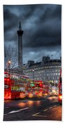 London Red Buses Beach Towel