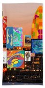 London Skyline Collage 2 Beach Towel