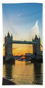 London Sunrise 2 Beach Towel