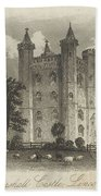 London Tattershall Castle, Lincolnshire. Published 1 Dec 1849 Beach Towel
