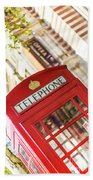 London Telephone 3 Beach Towel